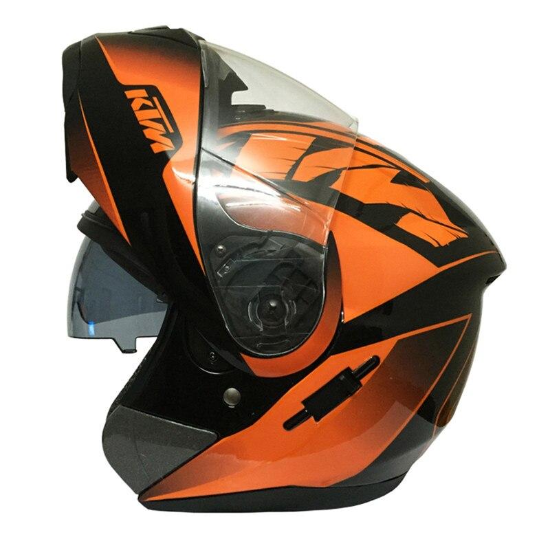 ktm double lentille modualr moto casque flip up casque intgral vintage double visires racing moto casque