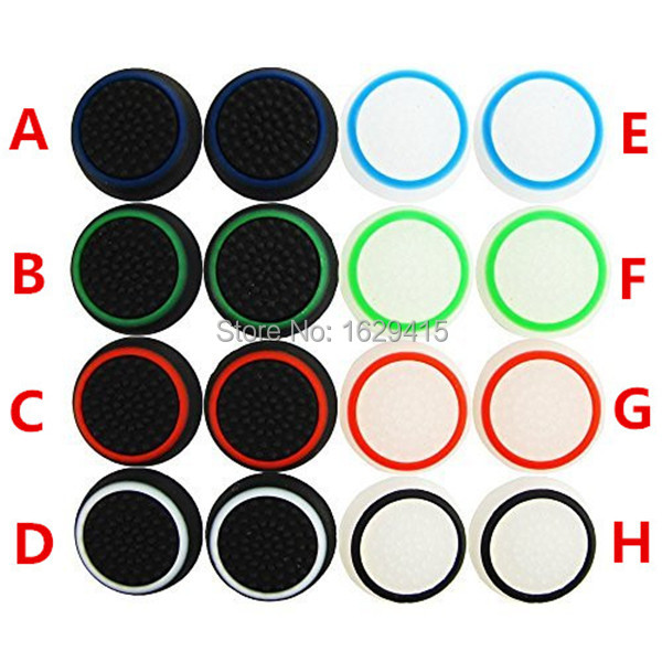 IVYUEEN 100 Pcs Analog Controller Joystick Thumb Stick Grip Thumbstick Cap Cover Case For PS4 PS3 For Xbox One Control