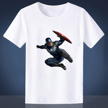 Mens Short sleeve Slim t shirt Avengers Captain America Printed T-shirt Man Casual Fashion Hipster Tee Tops Male Summer Clothing