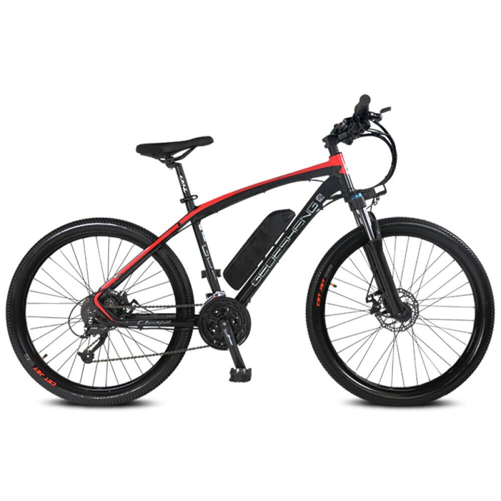 27 Speeds, 26″, 48V/10A, 240W, Aluminum Alloy Frame, Suspension Fork, Disc Brake, Electric Bicycle, E Bike, Mountain Bike.