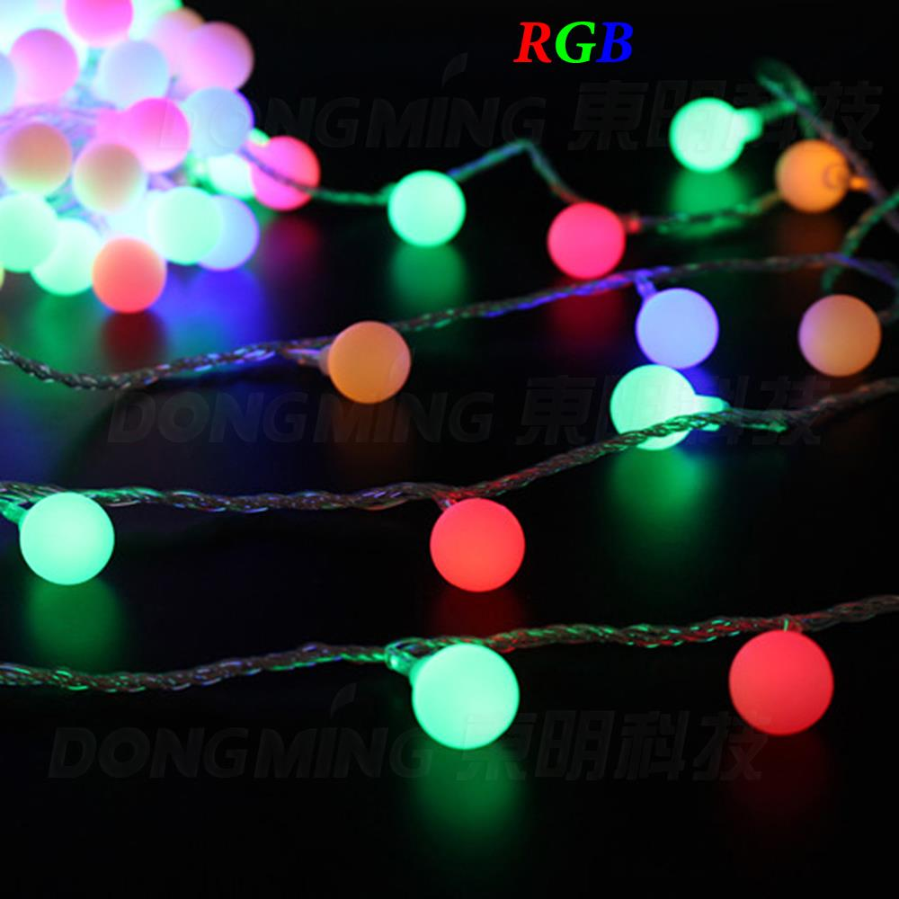 Rgb Led Christmas Lights.Us 6 74 5 Off 3m 30leds Yellow Purple Pink Rgb Led String Lights Christmas Led Ball Light White Red Blue Green 3 Aa Battery Led Light In Led String