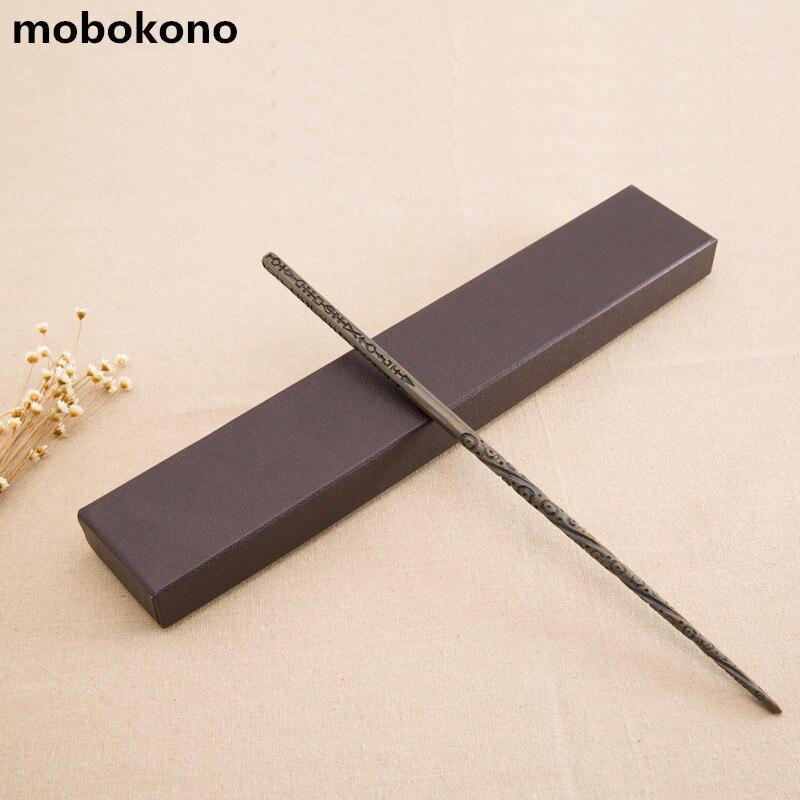 mobokono High Quality New Arrive Metal Iron Core Sirius Black Wand Harry Potter Magic Magical Wand Gift Box Packing
