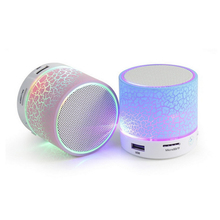 Mini Bluetooth Wireless Speaker Hand-free Bluetooth Portable Speaker With TF USB Music LED Light For Phone computer PC