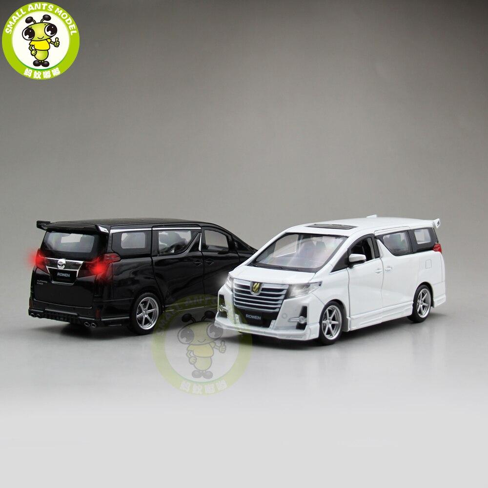 1/32 JACKIEKIM ALPHARD ROWEN Japan PREMIUM S-grade Diecast Model CAR Toys For Kids Sound Lighting Pull Back Gifts