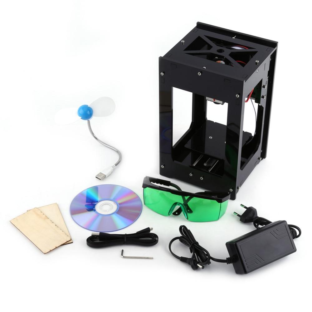 New 100-240V 2000MW Black Color Laser Engraver Marker Cutting Machine Engraving Tool  цены