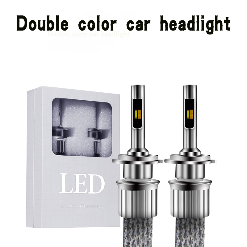 2X Two Color KS LED Car Headlight Styling Source 45W 5500LM 6000K IP68 H1 H3 H4 H7 H11 H13 9004 9005 9006 9007 Front Fog Light 1 set 2x 9007 led headlight bulb led lamps for cars light source fog lamps car styling light for carro 40w 6000k 4000lm