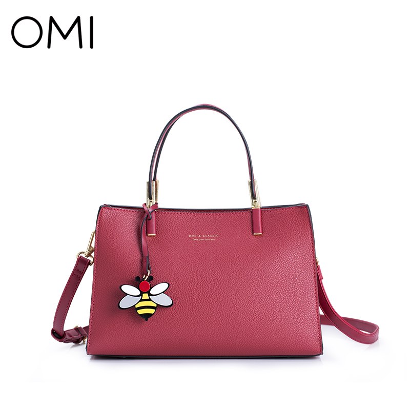 OMI Women's handbags Women's bag Female's handbag famous designer brand bags luxury designer leather shoulder bags Fashion Totes luxury genuine leather bag fashion brand designer women handbag cowhide leather shoulder composite bag casual totes