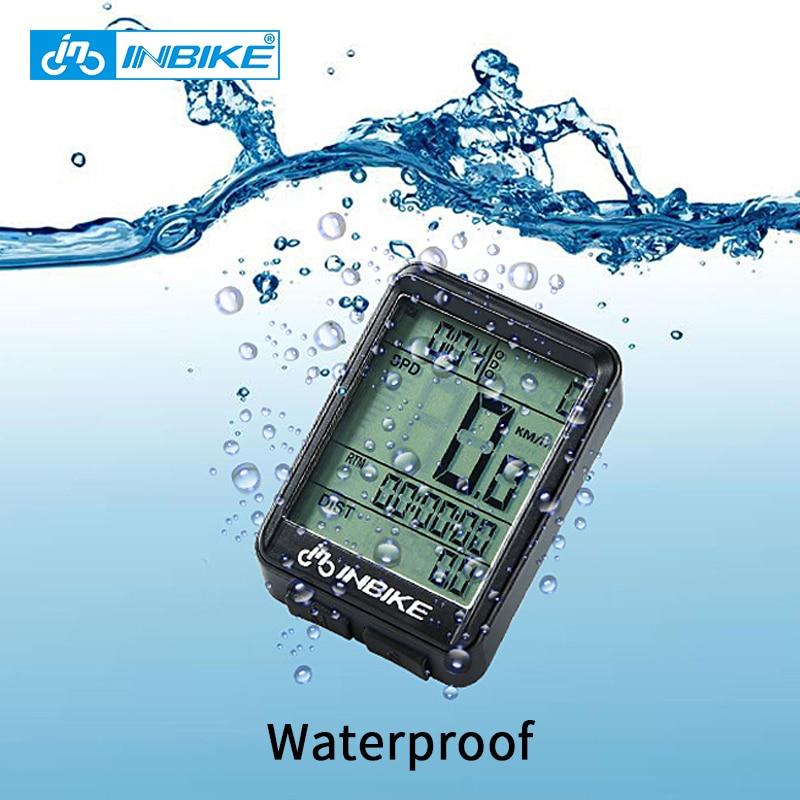 INBIKE Rainproof Bike Computer Speedometer Wireless Wired Odometer Cycling Bicycle Computer MTB Measurable Temperature Stopwatch