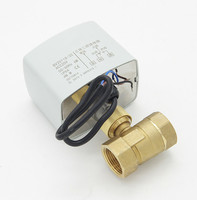 220V Two Or Three Motor driven Globe electric ball Valve Inch 2 DN15 20 25 32 40 50 Line Control 1/4 3/4 1/2 Brass