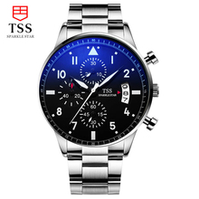 TSS PILOT'S WATCH CHRONOGRAPH EDITION JU AIR watch Quartz Water-resistant 30m Military Luminous calendar Genuine Leather