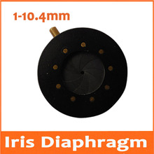 Cheapest prices 1-10.4MM Amplifying Diameter Zoom Optical Iris Diaphragm Aperture Condenser 9 Blades for Digital Camera Microscope Adapter