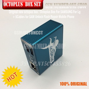 Image 3 - original new octoplus box octopus box 6 in 1 set  ( BOX+ 5PC CABLE ) Activated for LG samsung  Unlock Flash Repair Mobile Phone