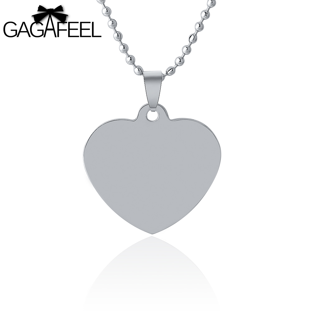 Gagaffel lovely love heart pendant necklaces stainless steel laser gagaffel lovely love heart pendant necklaces stainless steel laser engravingcustomized logo for boy girls couples love gifts in pendant necklaces from mozeypictures Images