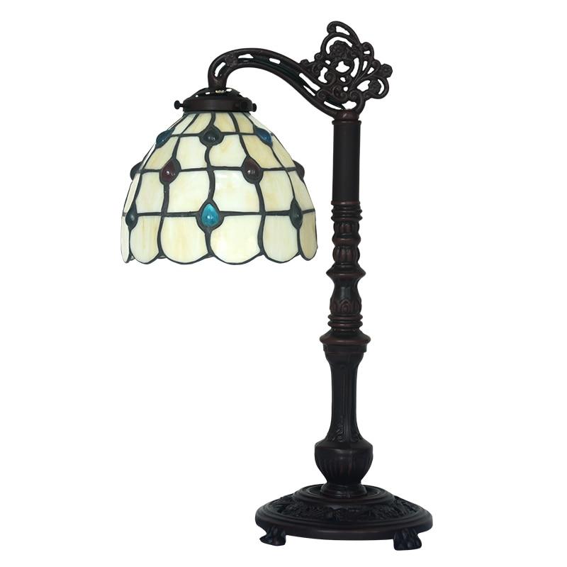 FUMAT Antique GlassTable Lampe Kunstnerisk Kreativt Farvet Glas - Indendørs belysning - Foto 3