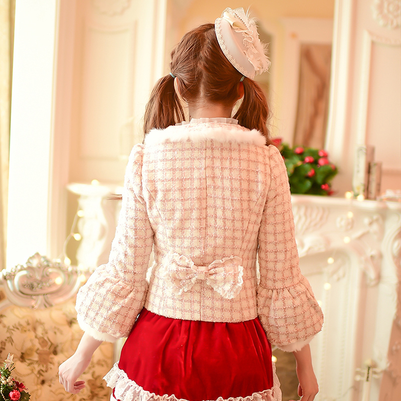 Manteau Lanterne Manches Tissu Grille 2015 De Sweet Doux C16cd5931 Bonbons Bowknot Lolita Courtes Pluie Hiver Princesse qOEB7wff
