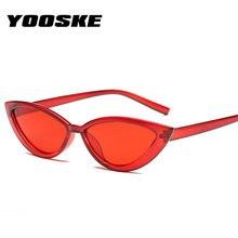 9fc2c22040 YOOSKE estilo ojo de gato marco claro gafas de sol mujer púrpura rojo rosa  verano accesorios para playa moda gafas de sol femeni.