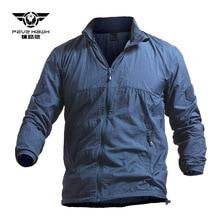 Tactical Lightweight Waterproof Jacket Men Breathable Thin Hoody Raincoat Military Portable Windbreaker Army Summer Skin Jackets