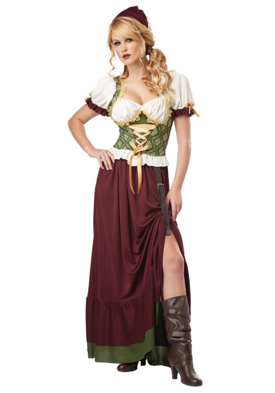 59d5b8283ea Adult Plus Size Renaissance Wench Costume Beer Girl Costume German  Oktoberfest Fancy Dress