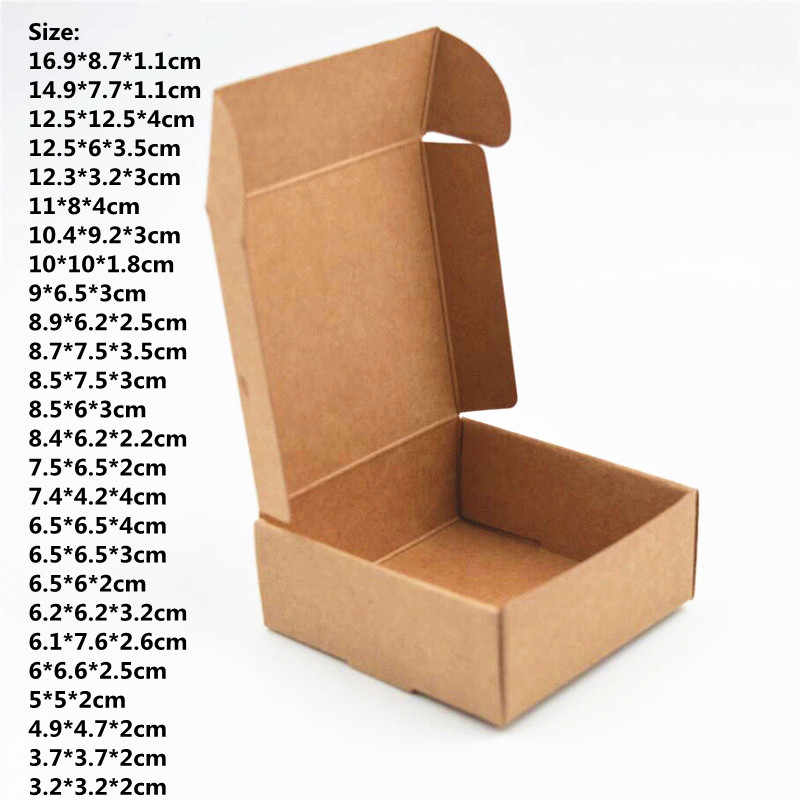 Natural Kraft Box,Kraft Paper Packing Box,small soap Box 50pcs/lot