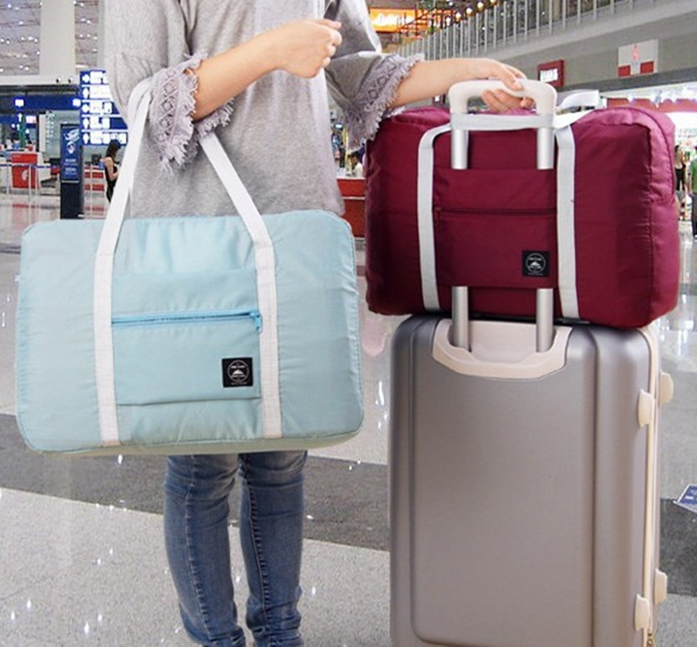 Travel Trolley Bag Large Capacity Bag Women Folding Bag Unisex Clothes Luggage Storage Travel woman Handbags Duffle bag Stuff