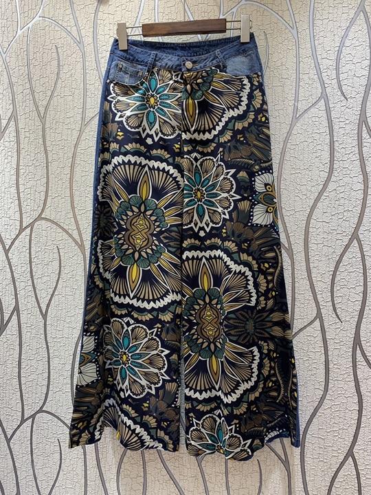 Azul Nueva Y Cinturón Mujer Amplia Simétrica Pierna Pantalones Verano De 2019 Impreso Primavera 0327 OTIqw