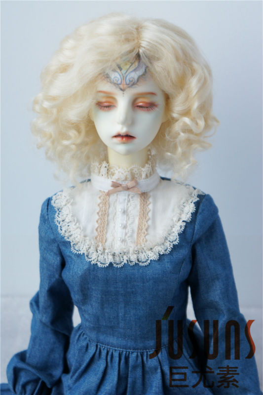 JD039 21-23CM SD lovely short curly mohair doll wig 1/3 8-9inch BJD wigs Resin doll Collection doll wigs new 1 3 22 23cm 1 4 18 18 5cm bjd sd dod luts dollfie doll orange black short handsome wig