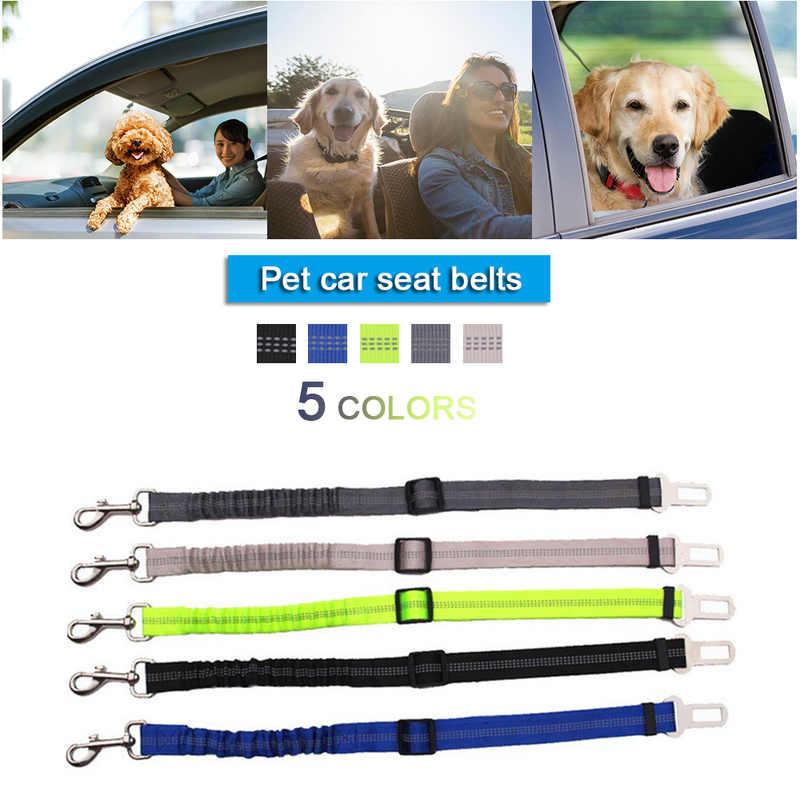 Pet Fornecimentos Cão Trela Do Cão Cinto de segurança Cinto de Segurança Do Carro Cintos de Tração De Amortecimento Elástico Reflexivo Corda de Segurança Corda de Tração Cão