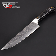 New Arrival Japanese Damascus kitchen knife 8″  Japan VG10 chef filleting knives 3D Shape patent design Natural Sandal