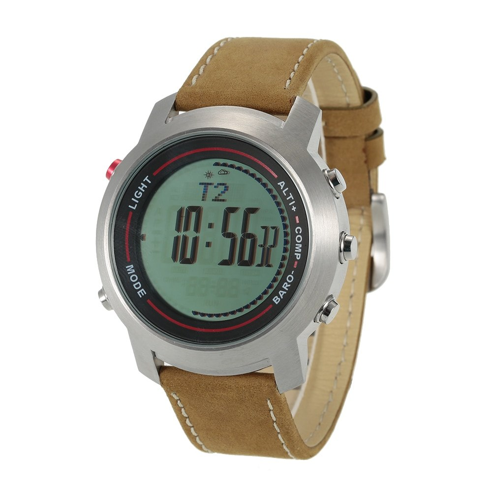 5ATM étanche sport Spovan multifonction extérieur numérique montre altimètre thermomètre numérique boussole chronomètre rétro-éclairage