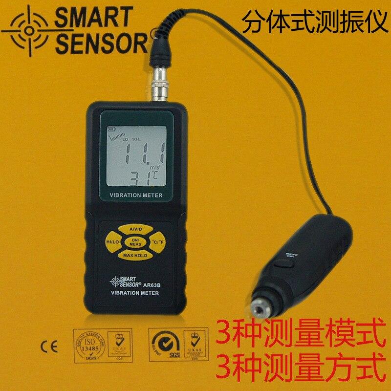 AR63B Smart Sensor Vibration Meter Digital Precision Tester Analyzer Vibrometer Velocity Acceleration Displacement measurement  цены