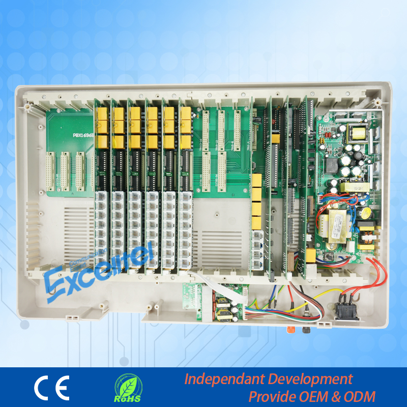 High capacity PABX/ CP1696-448 4 PSTN line 48 extension with PC software management -Greeting download