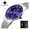 Wwoor marca de lujo reloj de los hombres famosos hombres de negocios relojes de cuarzo ocasional reloj masculino impermeable reloj de pulsera de acero inoxidable