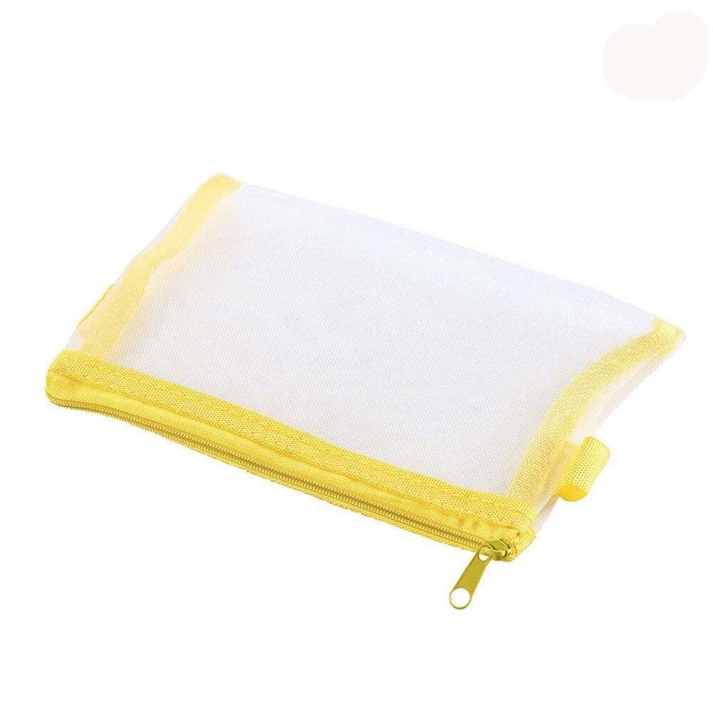1PC Fashion Women Transparent Nylon Cosmetic Bag Storage Bag Multifunction Simple Mesh Zipper Makeup Bag 6Colors 2018 NewPopular
