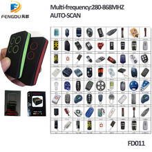 10pcs Multi frequency copy 280-868mhz rolling code garage door remote control duplicator top quality