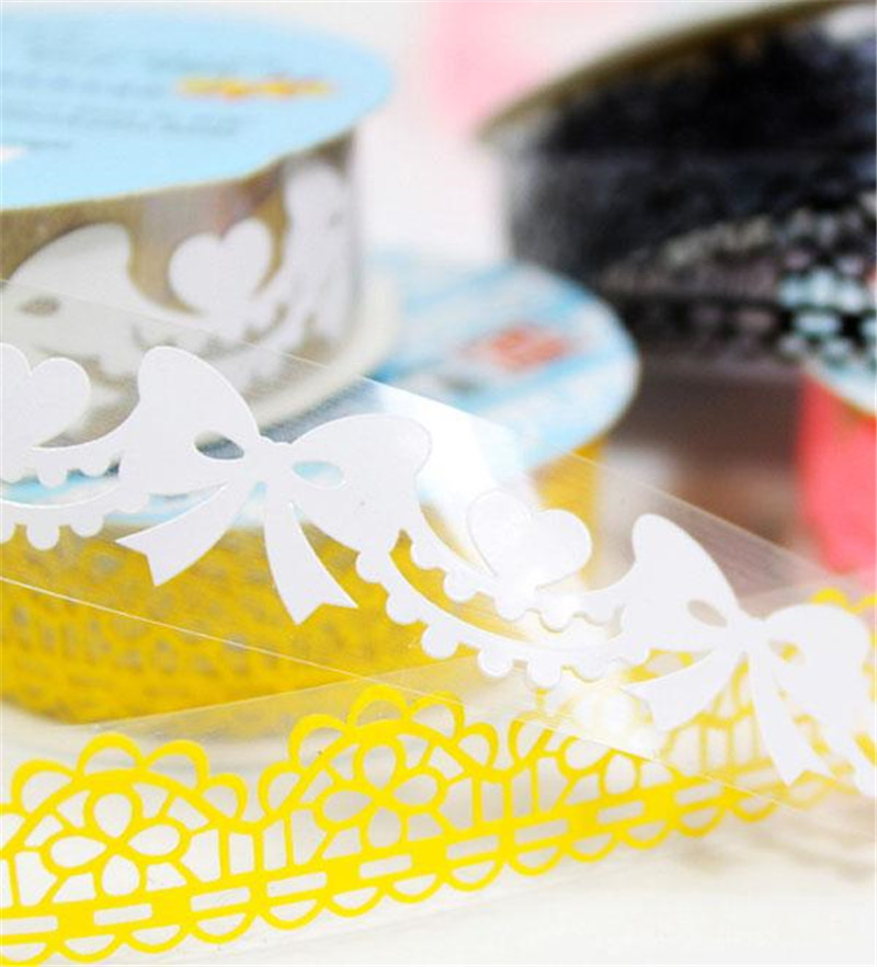 Korean Lace Adhesive Washi Tape Washitape Wash Papeleria PVC Pink Kid Cute Stationery Store Escritorio Stationary DIY Scrapbook