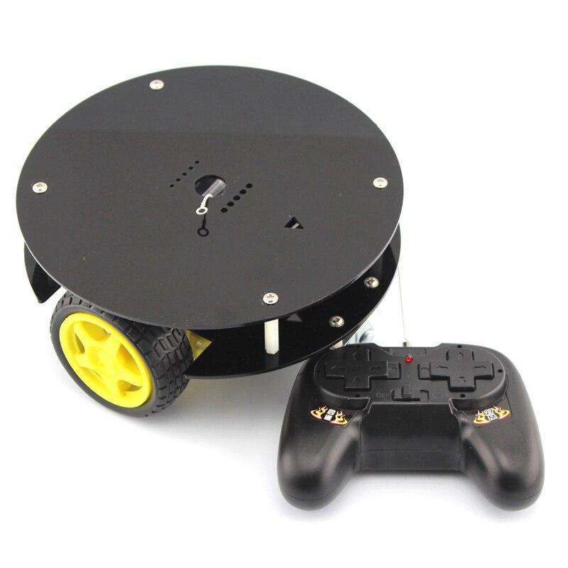 Fun remote control car, electronic Self-made manual remote control car model material, DIY kit remote control robot gzlozone diy kit njw1194 remote volume conrol kit treble