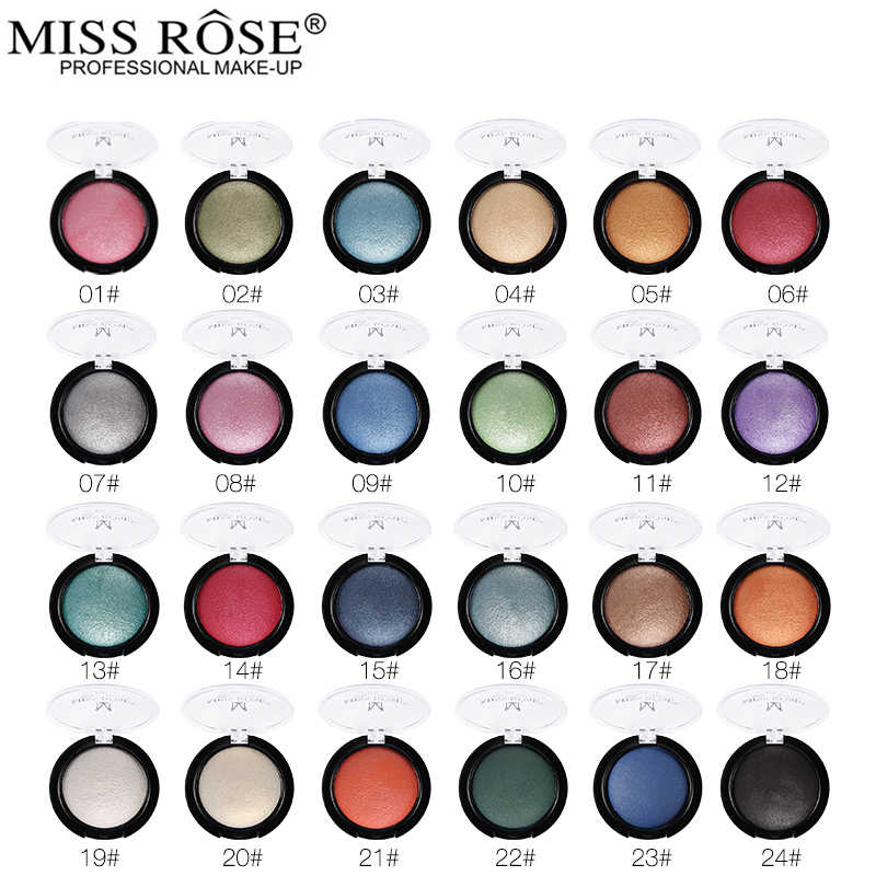 Miss Rose Enkele Kleur Baked Eyeshadow Palette Professional Eye Make Shimmer Metallic Oogschaduw