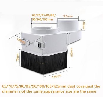 XHGMAK removable cnc dust collector cover diameter 65mm 70mm 75mm 80mm 85mm 90mm 100mm 105mm 125mm for CNC engraving machine customized dust cover engraving machine dust cloth dust cover for cnc machine