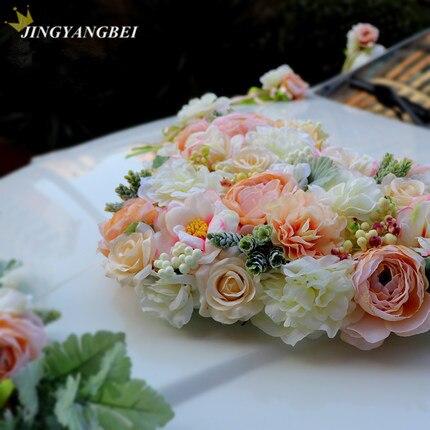 Luxo Silk Rose flor do carro do Casamento da Fita da flor Artificial set decoração fontes do casamento