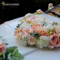 Luxury Silk Rose Artificial flower Ribbon Wedding car flower set decoration wedding supplies