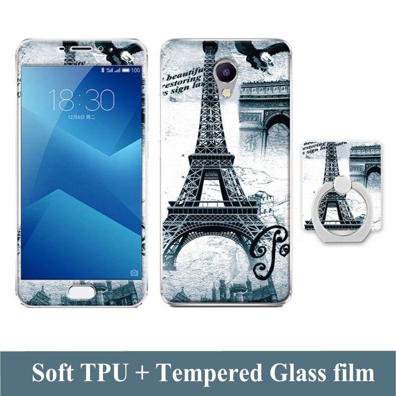 Estuche de dibujos animados 3D para Meizu M5 Note Película de vidrio - Accesorios y repuestos para celulares - foto 5