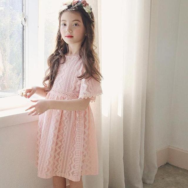 fa8d7b75222 Everweekend Girls Lace Embroidered Summer Party Dress Ruffles Pink and  Purple Color Princess Holiday Dresses Western Fashion Dre