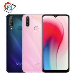 Оригинальный мобильный телефон Vivo Y3, 6,35 дюйма, экран Water-drop, 5000 мАч, 4 Гб ОЗУ 128 Гб ПЗУ, MT6765, Android 9, суперширокоугольный фотоаппарат, смартфон