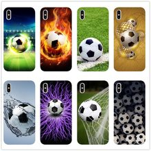 Voetbal Voetbal op water brandende fire sport telefoon case cover voor iPhone 8 7 6 6S Plus X XS MAX XR 11 11PRO MAX SEfunda(China)