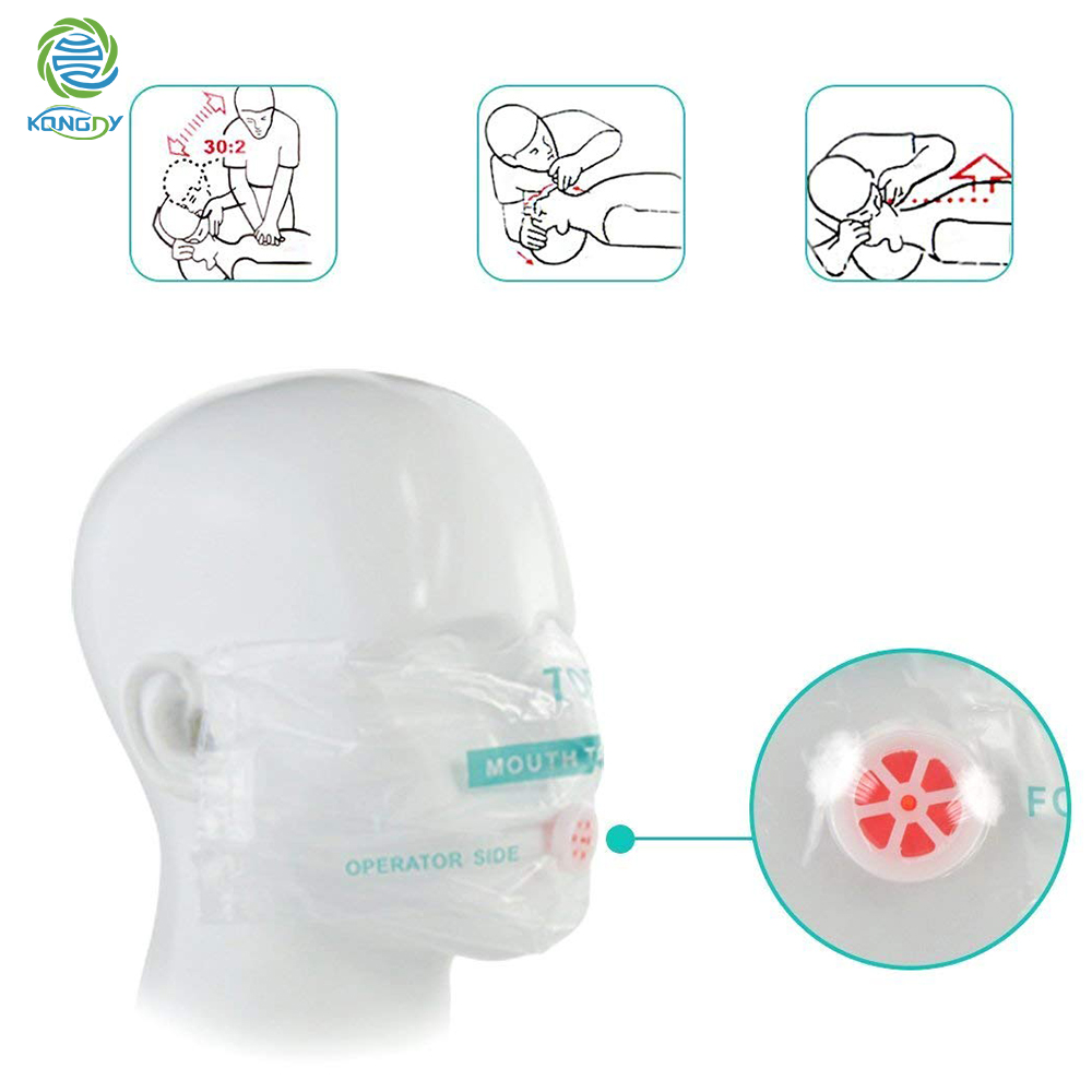 KONGDY New 10 Pieces First Aid CPR Mask Disposable One Way Valve Emergency Resuscitation Face Shield First Aid Skill Training in Masks from Beauty Health