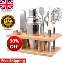 UK Stainless Steel Cocktail Shaker Mixer Drink Bartender MartiniTool Bar Set Kit