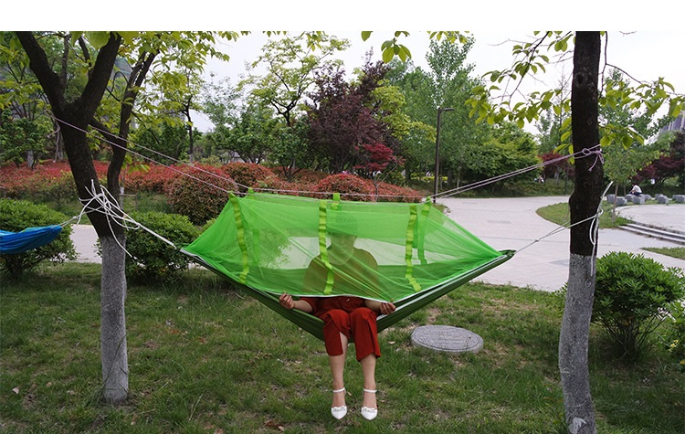 2 People Portable Parachute Hammock Camping Survival Garden Hunting Leisure Hamac Travel Double Person Hamak With mosquito net2 People Portable Parachute Hammock Camping Survival Garden Hunting Leisure Hamac Travel Double Person Hamak With mosquito net