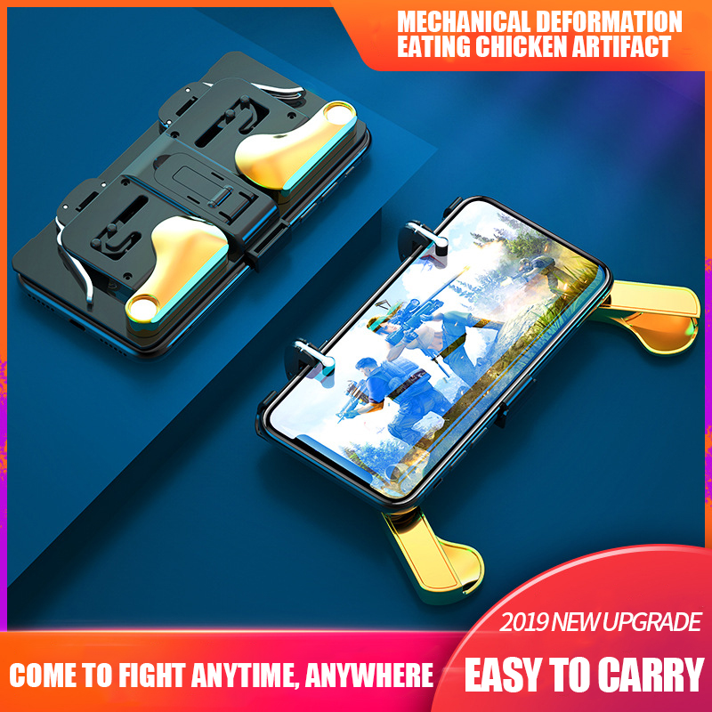 Foldable PUBG Controller Phone Case Gamepad Controller Joystick Cover For iPhone Xiaomi Huawei font b Oneplus