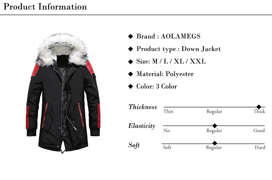 Aolamegs Fur Collar Winter Jacket Men Patchwork Thick Hooded Down Jacket Men Parkas Fashion Windproof Coat Mens Streetwear (20)