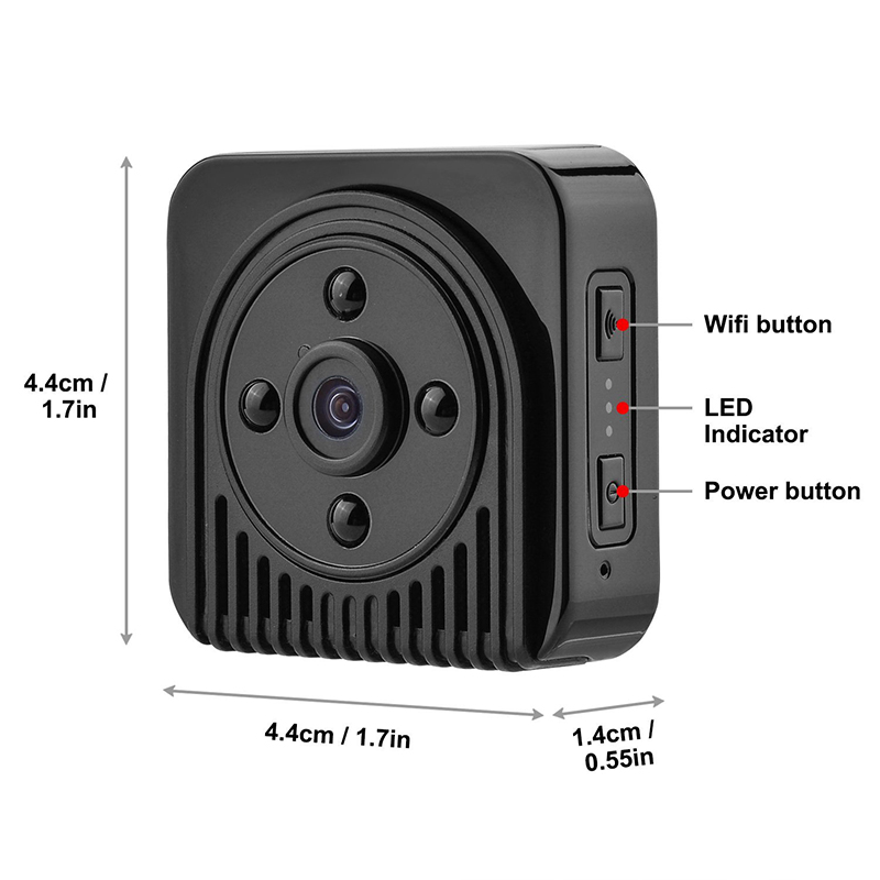 Wifi IP Mini Camera Wireless HD 1080P Infrared Micro camcorders IR Night Vision Portable Recorder Magnetic Motion MINI cam